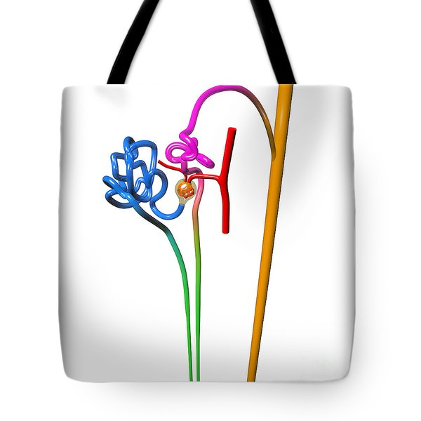 Tote Bag featuring the digital art Nephron White by Russell Kightley