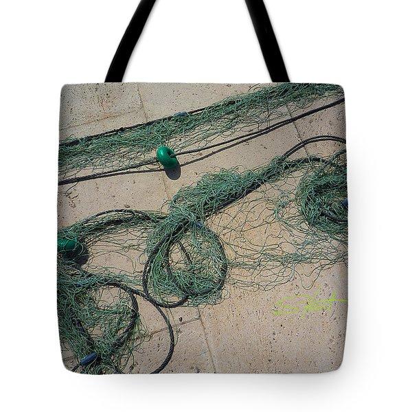 Neptune Green Tote Bag by Charles Stuart