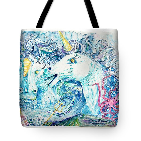 Neptune's Horses Tote Bag by Melinda Dare Benfield