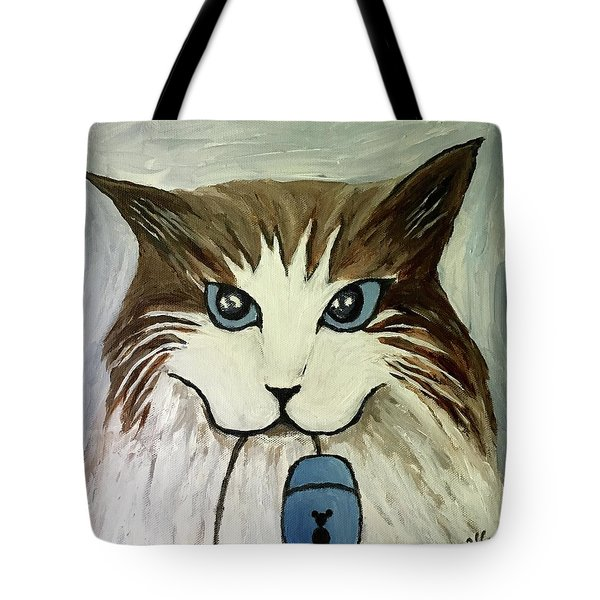 Nerd Cat Tote Bag by Victoria Lakes