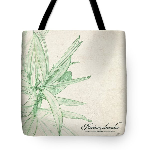 Tote Bag featuring the digital art Nerium Oleander by Gina Harrison