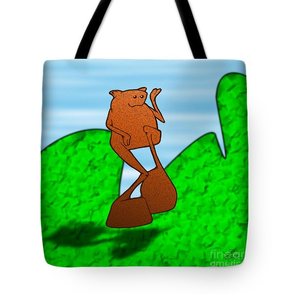 Tote Bag featuring the drawing Nermin by Uncle J's Monsters