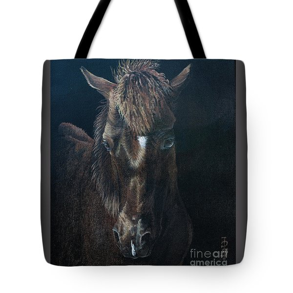 Nervous Colt  Milltown Fair Tote Bag by Pauline Sharp