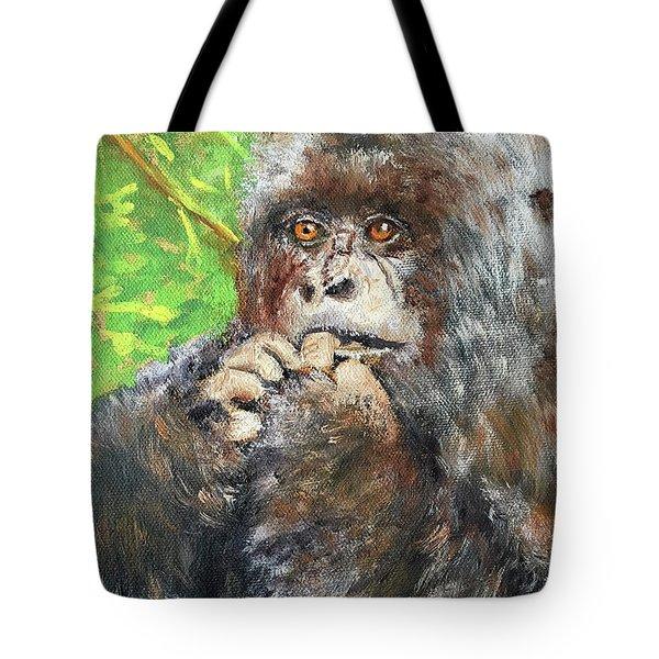 Nervous Mama Gorilla Tote Bag