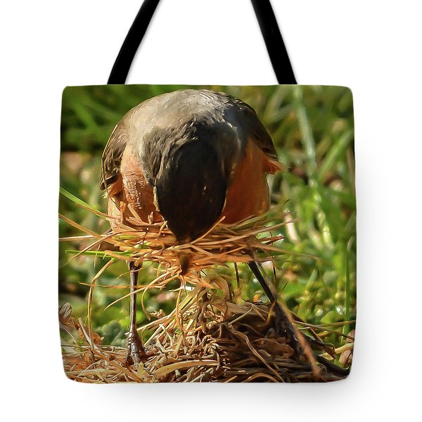 Nest Building Tote Bag