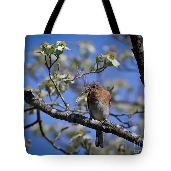 Nest Building Tote Bag by Douglas Stucky