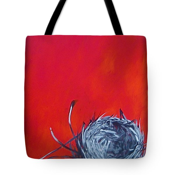 Nest On Red Tote Bag
