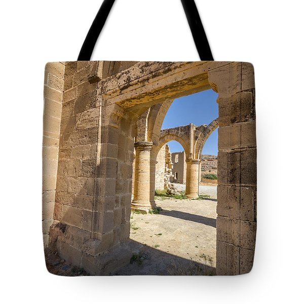 Nested Windowed View Of Church Ruins Tote Bag