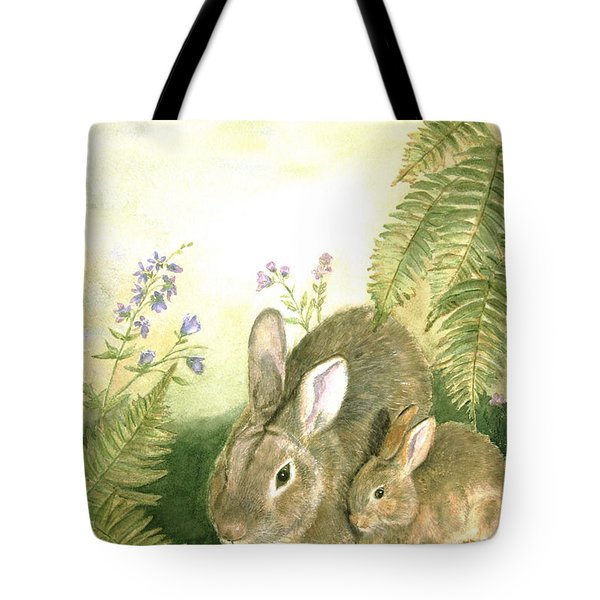 Nesting Bunnies Tote Bag by Patricia Pushaw