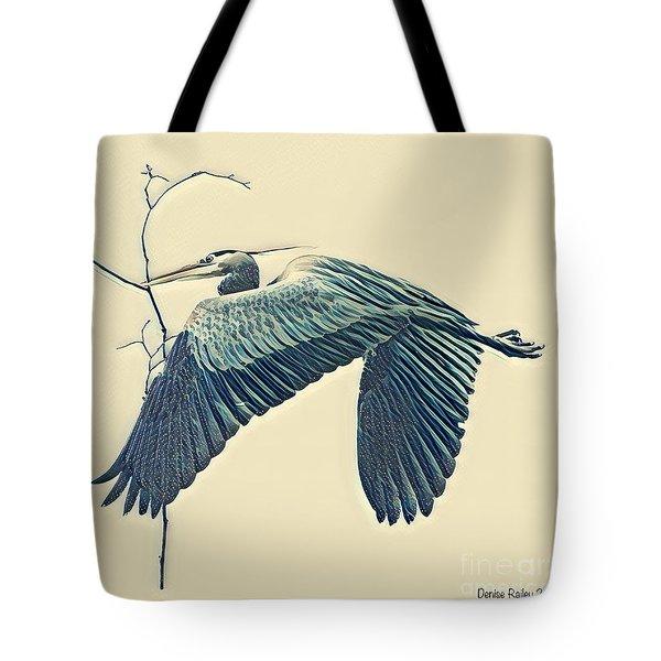 Nesting Heron Tote Bag