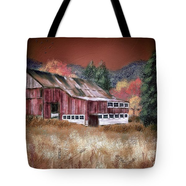 Tote Bag featuring the digital art Nestled In The Laurel Highlands by Lois Bryan