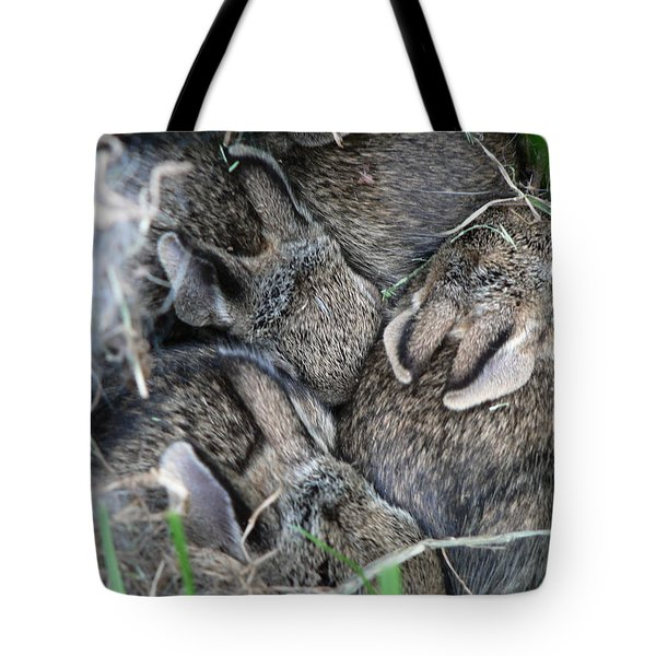Tote Bag featuring the photograph Nestled In Their Den by Laurel Best