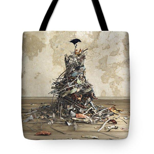 Net Worth Tote Bag by Cynthia Decker