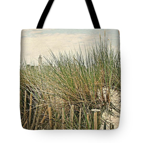Netherlands - Dunes And Lighthouse Tote Bag