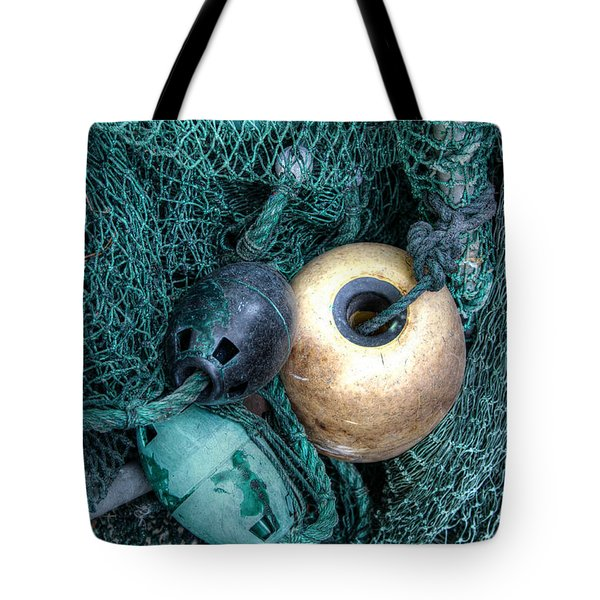 Nets And Buoys Tote Bag