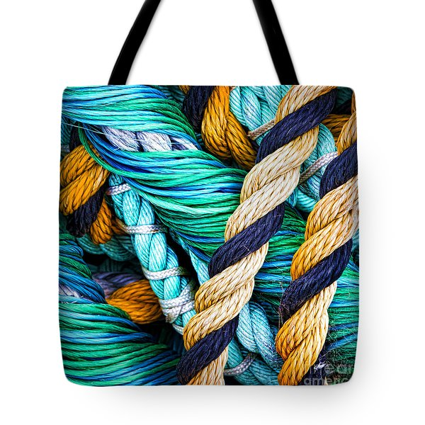 Nets And Knots Number Five Tote Bag