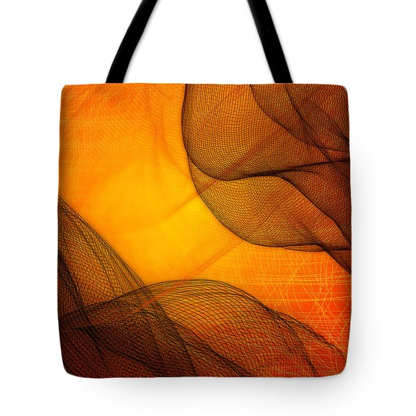 Netted Orange Tote Bag