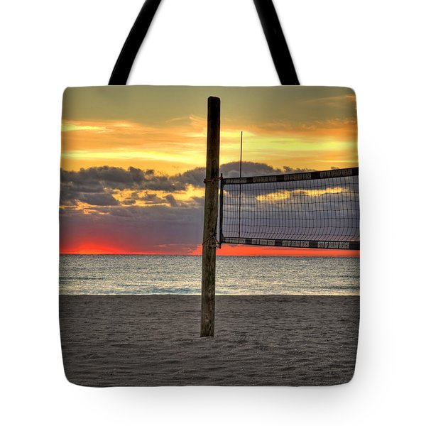 Netting The Sunrise Tote Bag