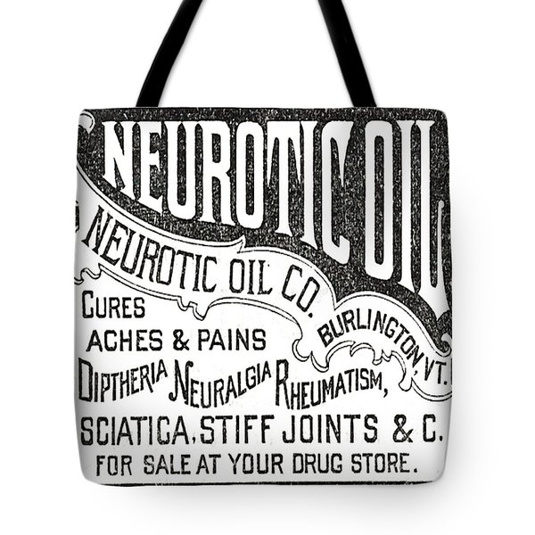 Neurotic Vintage Ad Tote Bag