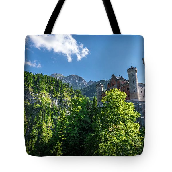 Tote Bag featuring the photograph Neuschwanstein Castle by David Morefield