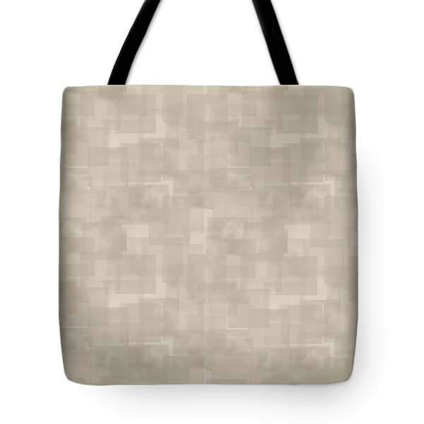 Neutral Brown Abstract Pattern Tote Bag
