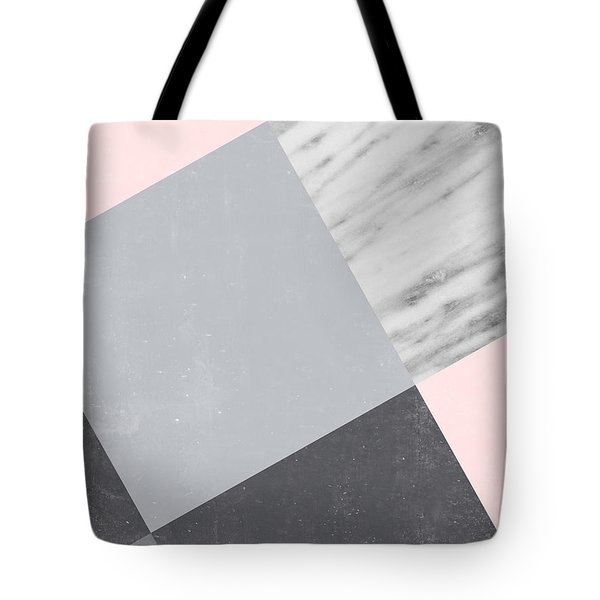 Neutral Collage With Marble Tote Bag