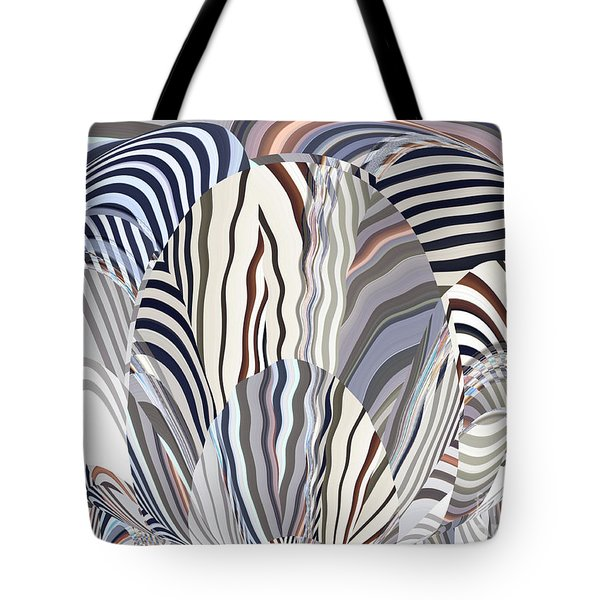 Neutral Graphic Oval Blossom Tote Bag