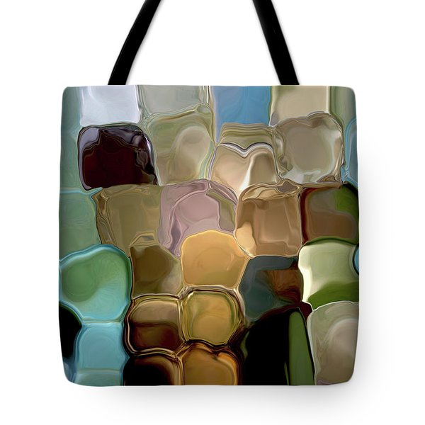 Neutrals In Light Abstract Tote Bag by Haleh Mahbod