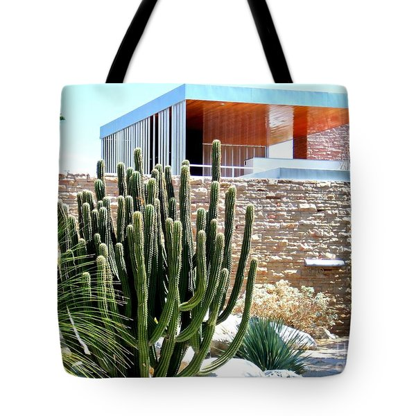 Neutra's Kaufman House 2 Tote Bag by Randall Weidner
