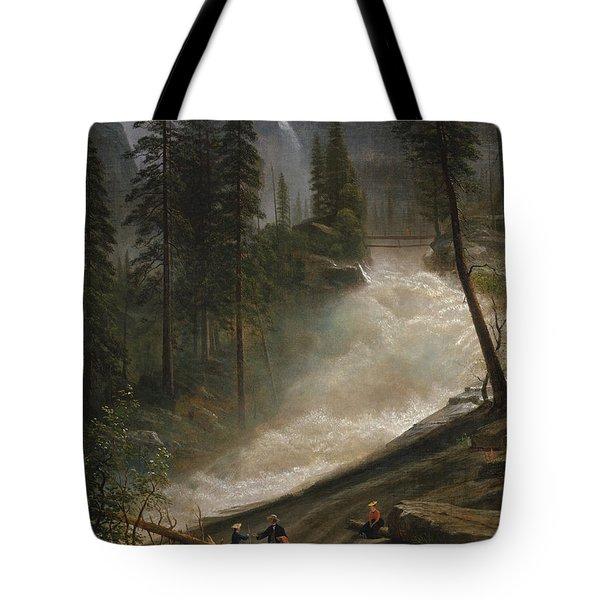 Nevada Falls Yosemite                                Tote Bag by John Stephens