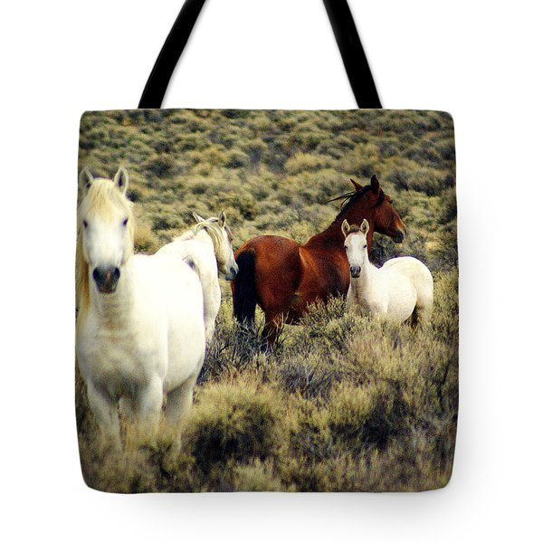 Nevada Wild Horses Tote Bag by Marty Koch