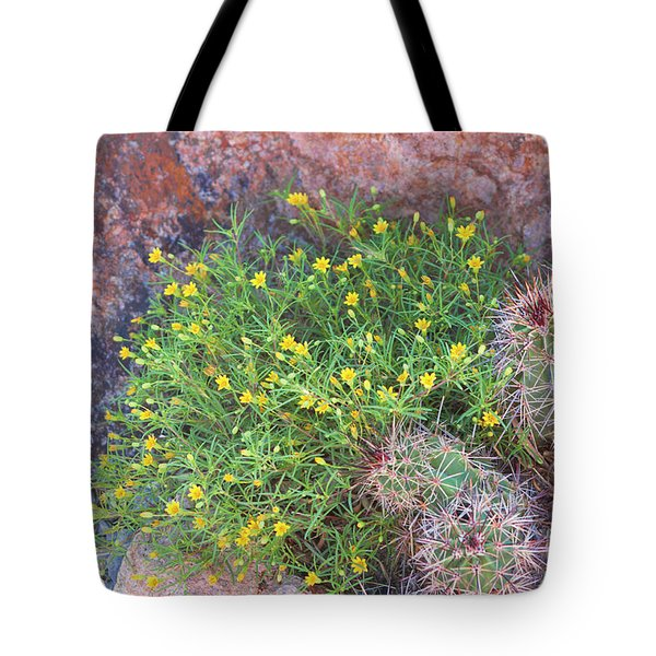 Tote Bag featuring the photograph Nevada Yellow Wildflower by Linda Phelps