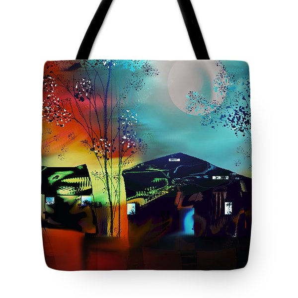 Tote Bag featuring the digital art Never Alone  by Yul Olaivar