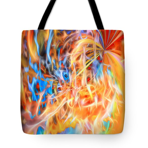 Tote Bag featuring the digital art Never Ending Worship by Margie Chapman