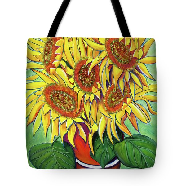 Never Enough Sunflowers Tote Bag by Andrea Folts