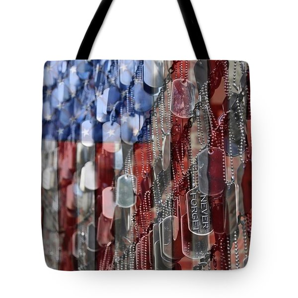Tote Bag featuring the photograph Never Forget American Sacrifice by DJ Florek
