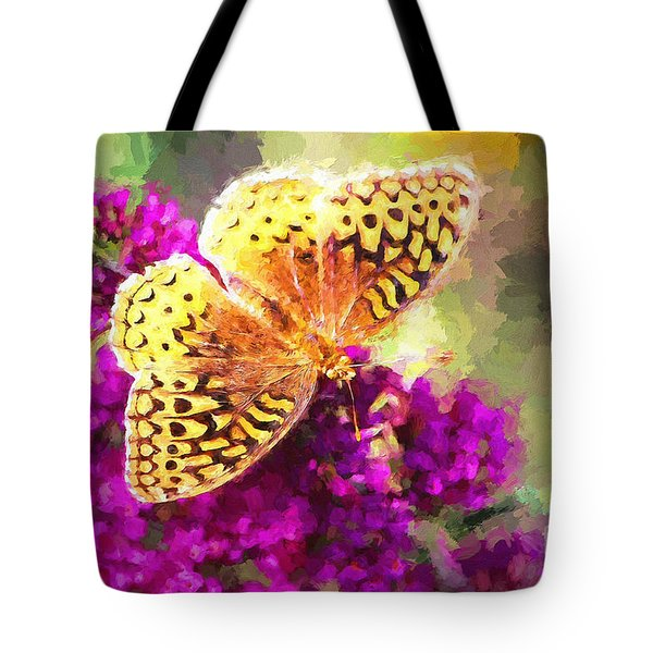 Never Hide Your Wings Tote Bag by Tina LeCour