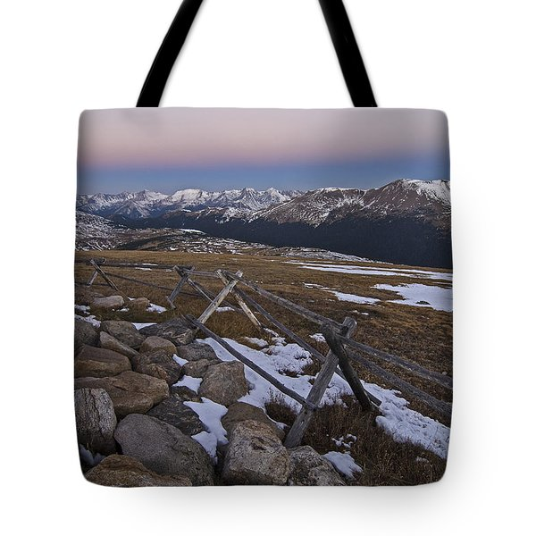 Tote Bag featuring the photograph Never Summer Range by Gary Lengyel