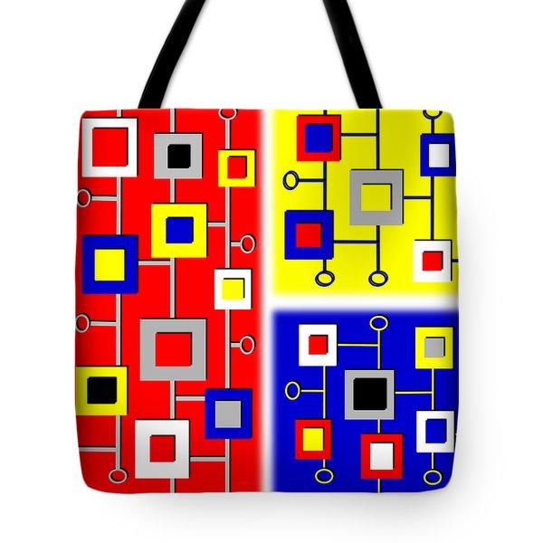 New Age De Stijl Tote Bag by Tara Hutton