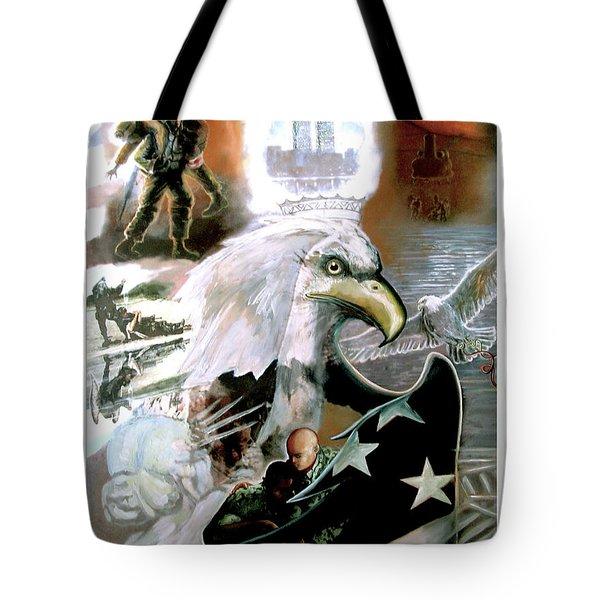 New American Pride Tote Bag by Todd Krasovetz