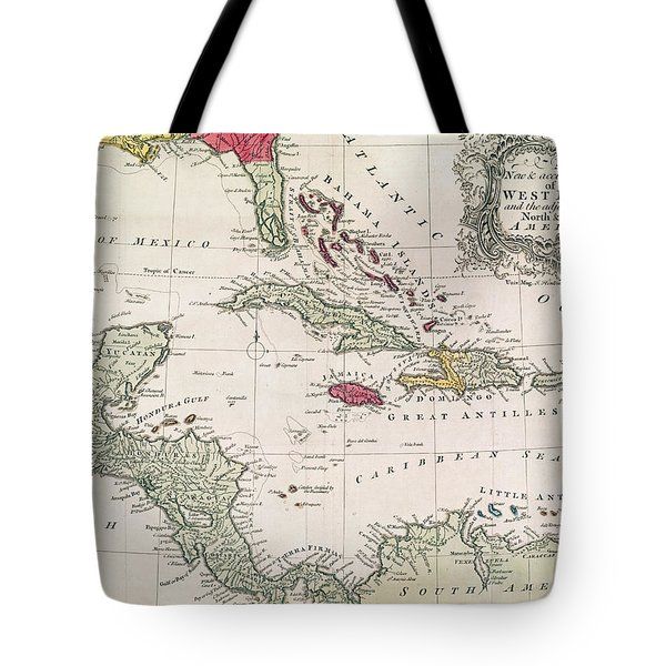 New And Accurate Map Of The West Indies Tote Bag by American School