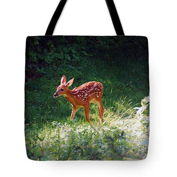 New Backyard Visitor Tote Bag