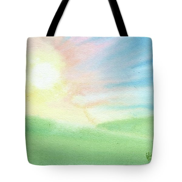 Tote Bag featuring the painting New Beginnings by Betsy Hackett