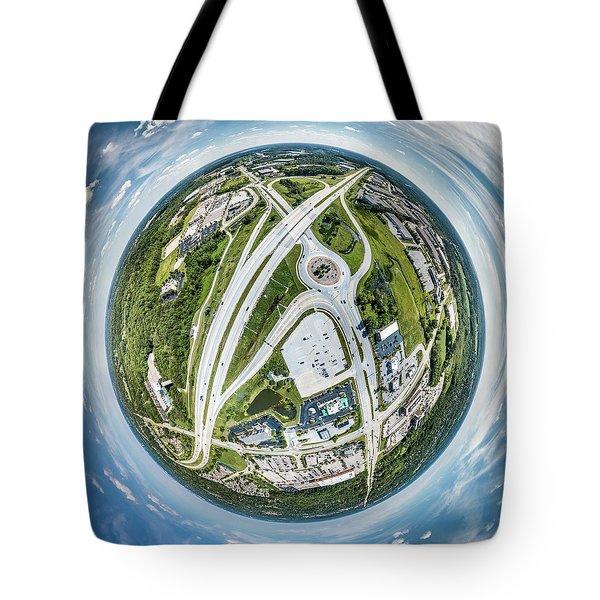 Tote Bag featuring the photograph New Berlin Little Planet by Randy Scherkenbach