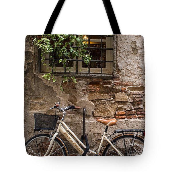 New Bike In Old Lucca Tote Bag