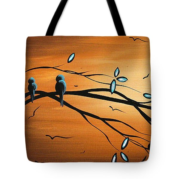 New Bloom By Madart Tote Bag by Megan Duncanson