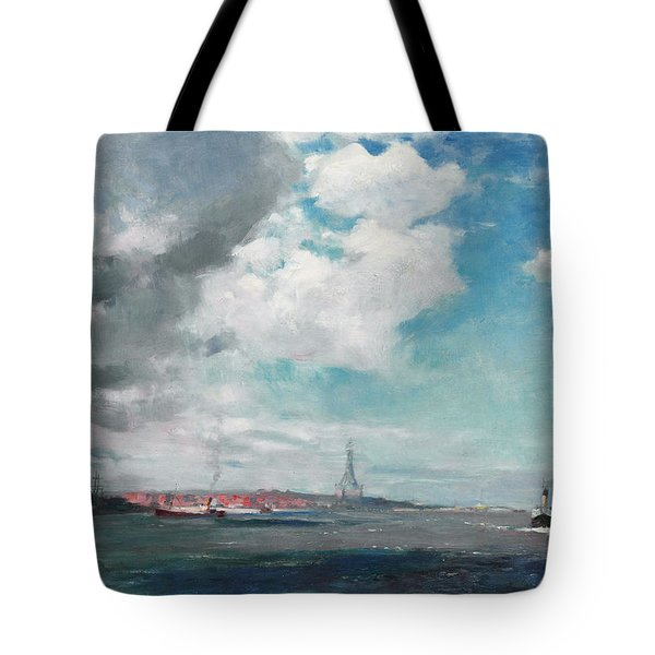 New Brighton From The Mersey Tote Bag by JH Hay