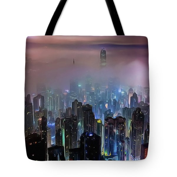 New City Skyline Tote Bag