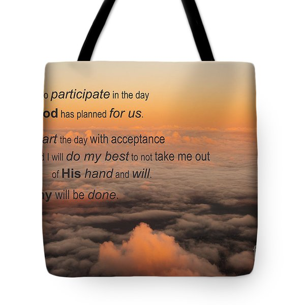 Tote Bag featuring the photograph New Day Of Acceptance by MaryJane Armstrong