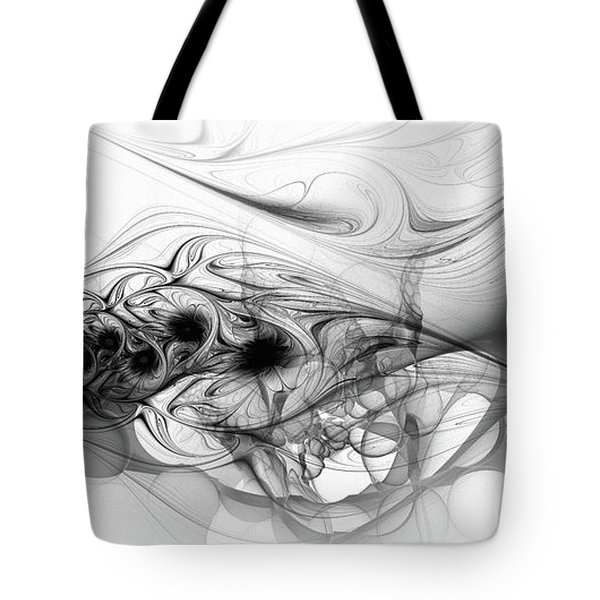 New Directions - Black And White Modern Abstract Art Tote Bag